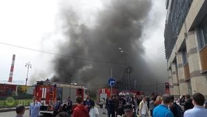 москва, пожар, пламя, погибшие, железная дорога, киевский вокзал, происшествия, новости россии