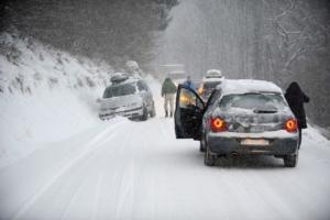 альпы, снег, автомобили, ловушка