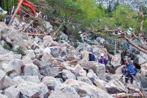 туристы из Одессы в Северной Осетии, ЧП в Осетии, камнепад