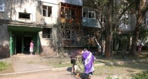 луганск, многоэтажка, ато, последствия