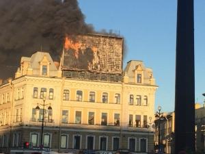 санкт-петербург, пожар, электронное, табло, невский, проспект