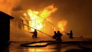 Россия, Москва, пожар, МЧС, огонь, швейный цех, производство