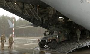 Рига, военные учения, Адажский полигон, армия США
