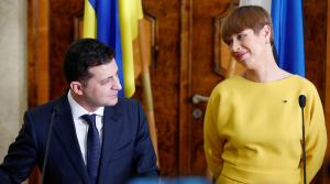 Украина, политика, эстония, Кальюлайд, зеленский, велосипед, подарок, казанский