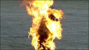 поджог, огонь, пламя, бензин, горящий мужчина, ссора, сигарета, происшествия, украина