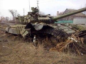Пески, танк, подбили, ДНР, ВСУ, восток Украины, конфликт, война, Донбасс, техника