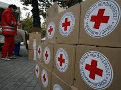 красный крест, гуманитарная помощь, горловка, набор
