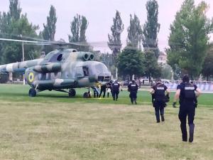 Покровск, выборы в Раду, спецназ, вертолет, конфликт, военные, протест