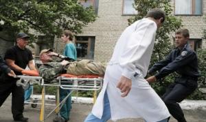 украина, восток украины, всу, мвд, новотошковка, блок-пост, украинский военный, обстрел, ранение