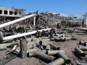 аэропорт, Донецк, взрывы, залпы