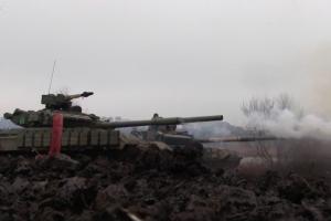 всу, оос, учения, танк, луганщина, донбасс, украина, агрессия