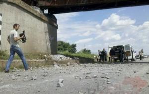 взрыв моста, происшествия, запорожье, украина, донецкая область, железная дорога