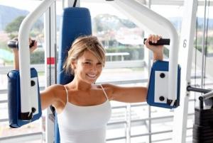 спорт, похудение, упражнения, зал