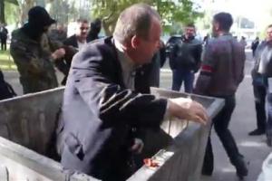 Николаев, происшествие, Укриана, Партия регионов, мусорный бак, Каминский, происшествие