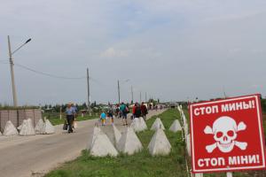 украина станица Луганская боевики ремонт моста