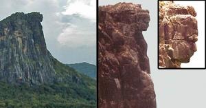 наука, находка, африка, горы, скульптура