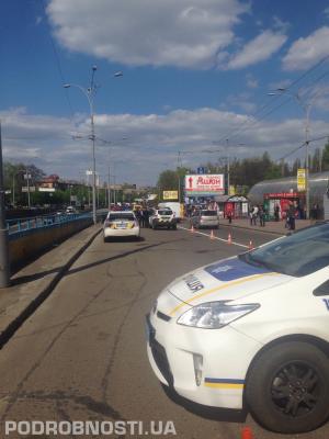 ДТП, Киев, патрульная полиция, киевские патрульные, происшествия, Дорогожичи, пешеход