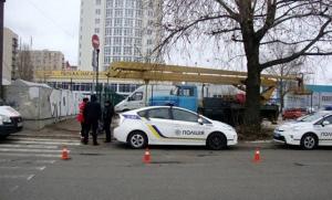 киев, преступник с топором, раненые, полиция, происшествия, фото, украина