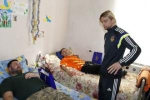 ато, бойцы, госпиталь, футбол, сборная украины, анатолий тимощук, война