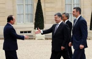 Порошенко, Олланд, Украина, Донбасс, минские, договоренности, выполнение