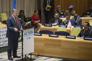 Украина, Порошенко, Президент, Выступление, ООН, Политика, Миротворцы.