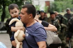 беженцы из украины, новости донецка, новости луганска, беженцы