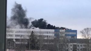 пожар, Россия, завод, Вектор, Екатеринбург, новости, происшествия, оборонная промышленность