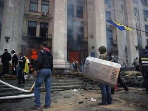 Пожар, Одесса, 2 мая ,Дом Профсоюзов