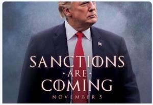 """sanction are comming, игра престолов, """"Winter is coming"""", """"Зима близко"""", новости экономики, санкции, трамп угрожает россии, угроза санкциями, голливуд, кино, тизер, предупреждение, мороз по коже"""