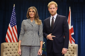 игры непокоренных, трамп, мелания трамп, трамп и принц гарри, принц гарри, гарри и мелания, политика,общество, сша, канада, первая леди сша, принц британии