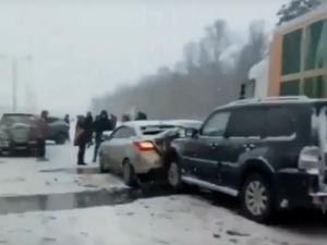 трасса, грузовик, похож, груду, очевидцы, аварии, МРБ, района, РФ, инцидента, произошло, Украины
