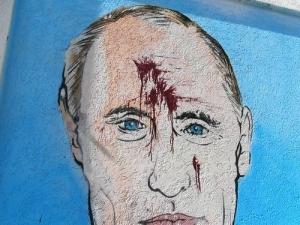 путин, симферополь, портрет, изуродовали, крым