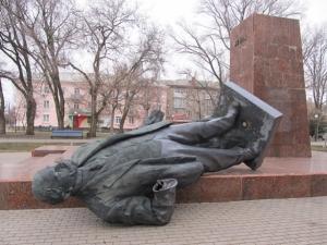 памятник ленину, бердянск, происшествие, общество, новости украины