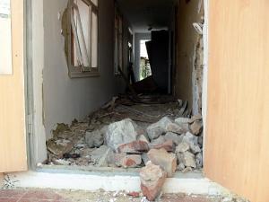 восток украины, северск, частный дом, взрыв