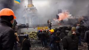 евромайдан, общество, киев, взрыв, беркут, протест, видео