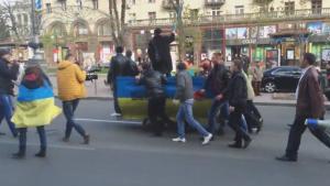 киев, украина, шахтеры, митинг, волынец, энергетика, порошенко