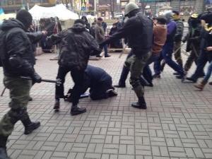 Киев, милиционер, правоохранитель, избит
