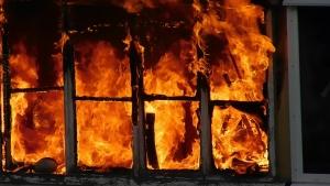 пожар, видео, донецк, днр, происшествия, кировский район донецка, донбасс, спортзал, кадры, фото