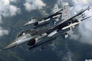 турция, сирия, война, удар, асад, F16, истребитель