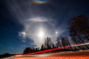 Украина, Закарпатье, гало, лунное гало, феномен, необычное явление, оптическое явление, кадры, фото