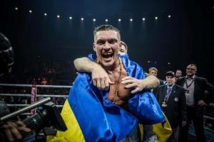 видео, берлин, гимн украины, бокс, новости бокса, ринг, поединок, бокс усик-хук, новости украины, фанаты, болельщики, германия