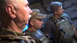 восток Украины, Донбасс, армия, ООС, ВСУ, СНБО, Данилюк, визит, видео