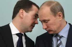 Путин, Медведев, Крым
