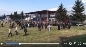 саакашвили, титушки, краковец, граница, происшествия, конфликт, столкновения, возвращение сакаашвили, видео, кадры, новости украины