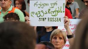 грузия, протесты, тбилиси, русский язык, пропагандисты,  кремль, путин