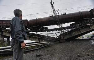 ЖД, дорога, взрывы, повреждения, Донбасс, инфраструктура