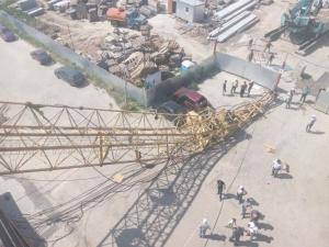 происшествия, львов, строительная площадка, строительный кран, чп, фото, новости украины