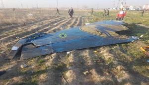 Иран, самолет, падение, фотографии, фрагменты, следы, шрапнель