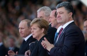 порошенко, путин, олланд, меркель, савченко, нормандский формат