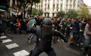 каталония, гражданская война, испания, референдум, столкновения, забастовка, протесты, полиция, независимость